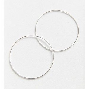 Urban 18 k gold+ sterling silver plated large hoop